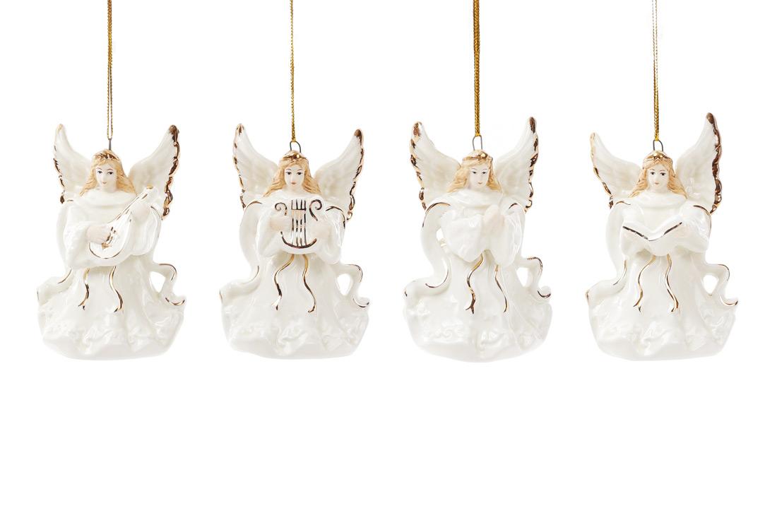 Колокольчик фарфоровый Ангел 7.5см, 4 вида