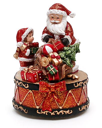 Новогодняя композиция Санта с музыкой, 13см BonaDi 197-N27