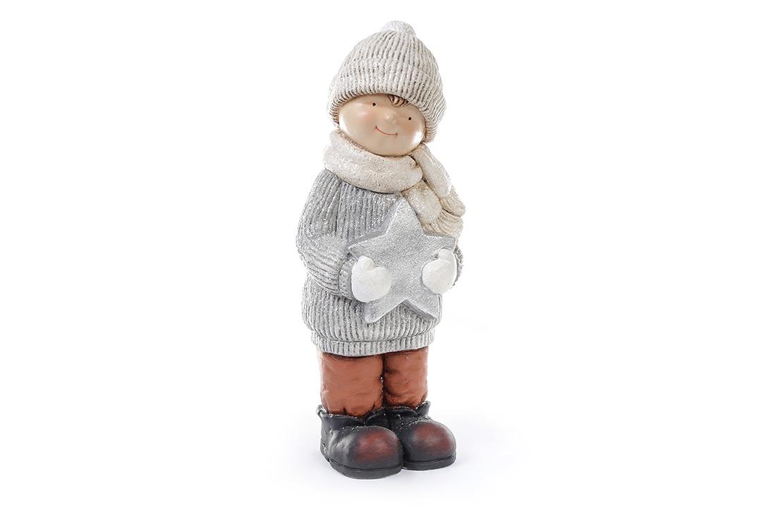 Новогодняя фигура Мальчик со звездой 47см