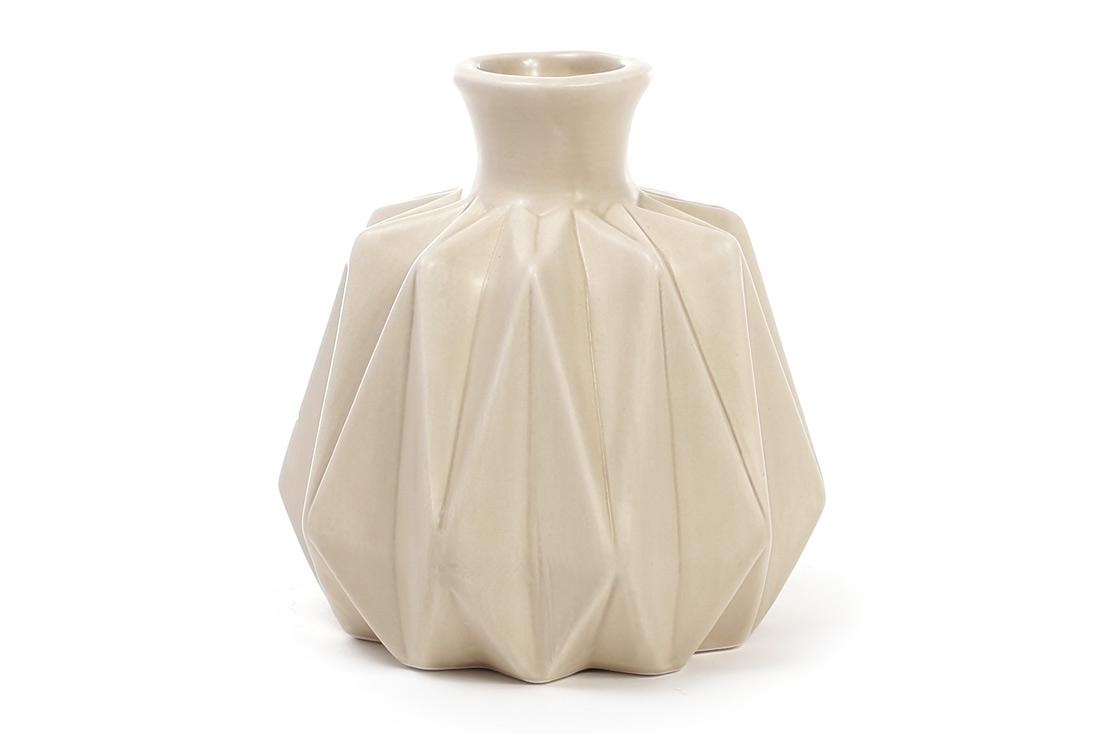 Ваза керамическая 13см цвет песочный BonaDi 733-151