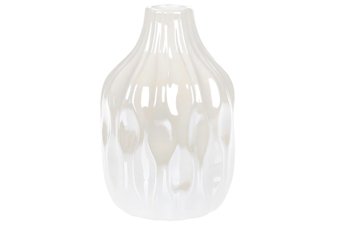 Ваза керамическая 156см цвет белый перламутр BonaDi 795-400