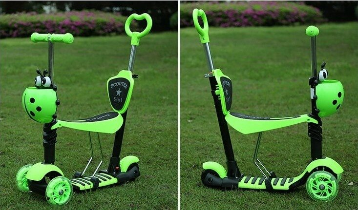 samokat-scooter-mini-5-v-1-bozhya-korovka-green-2 - копия