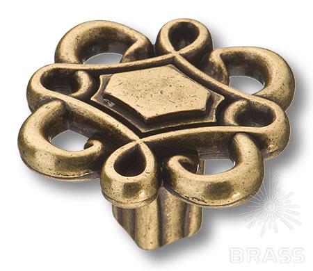 15.377.36.12 Ручка кнопка современная классика, античная бронза