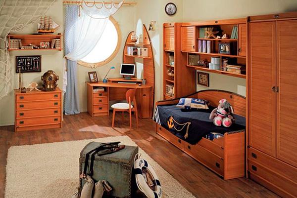 Несколько стильных деталей – и из обычной комнаты получилась каюта моряка