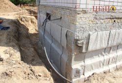 Защита от влаги фундамента дома бентонитовыми матами CEMtoben CS-Plus