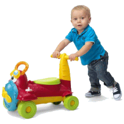 Машинка-толокар – польза для годовалого малыша