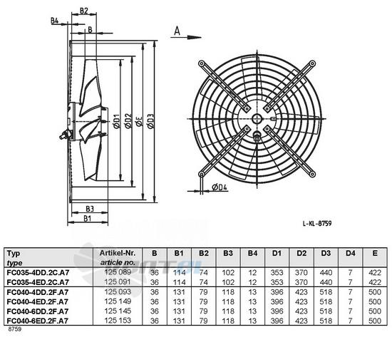 Ziehl-abegg FC035-4ED.2C.A7 купить, цены, каталоги