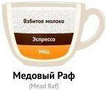 Раф-кофе с медом
