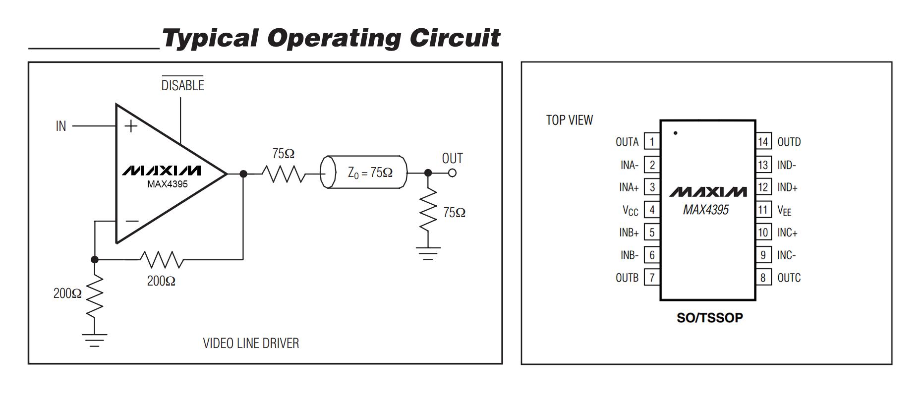 Схема Усилителя разветвителя видеосигнала ВР-04
