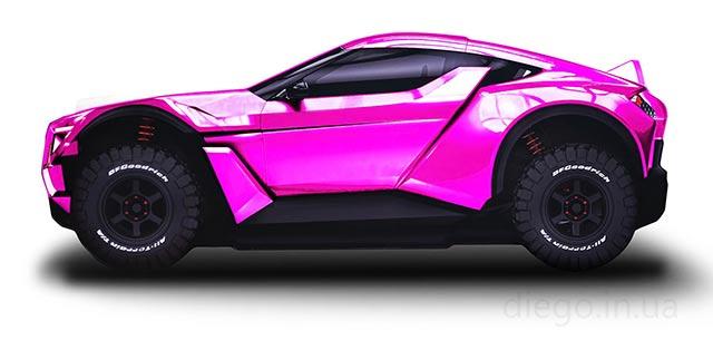 Кровать Allroad розового цвета