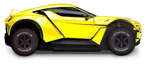 Кровать Allroad желтого цвета
