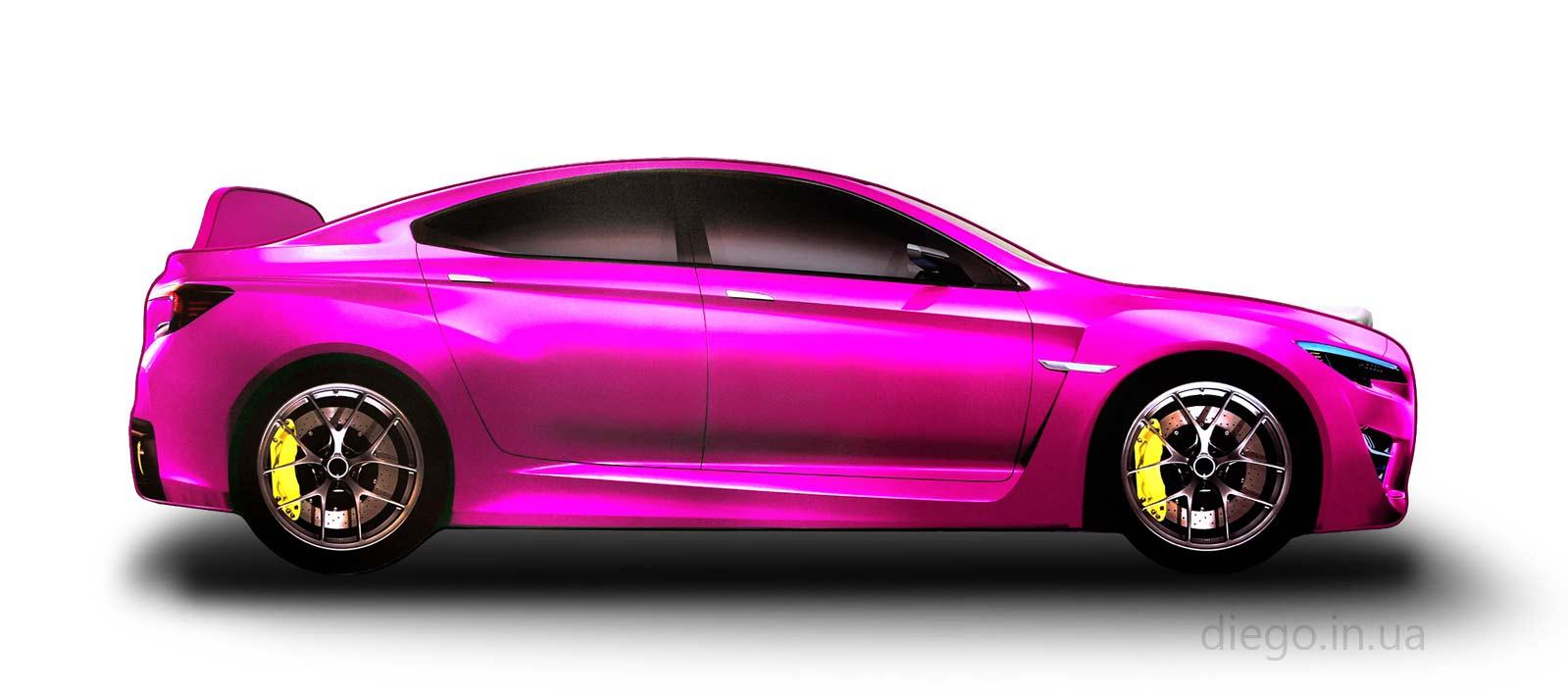 Кровать розового цвета