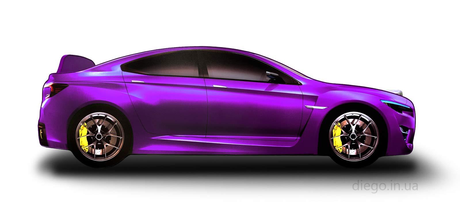 Кровать маинка Drift фиолетового цвета