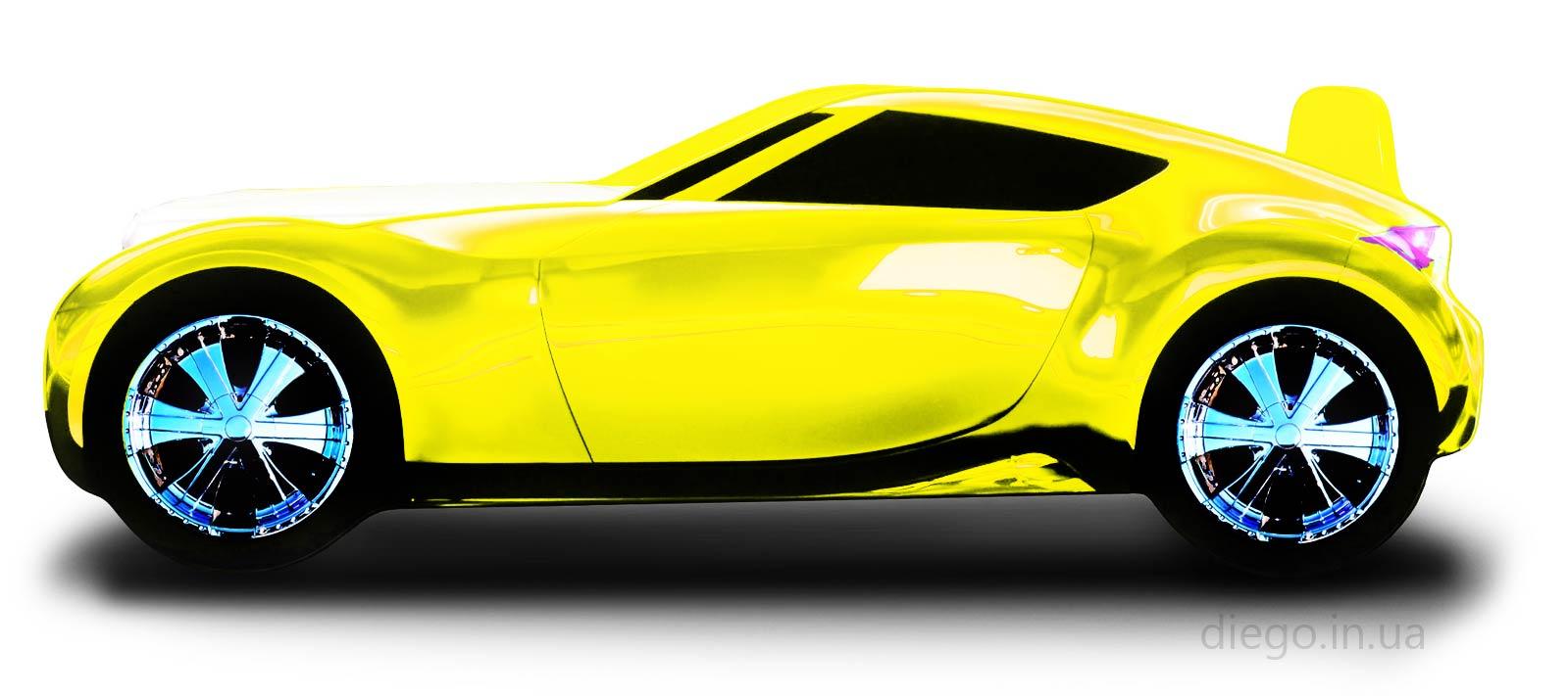 Кровать Galaxy желтого цвета
