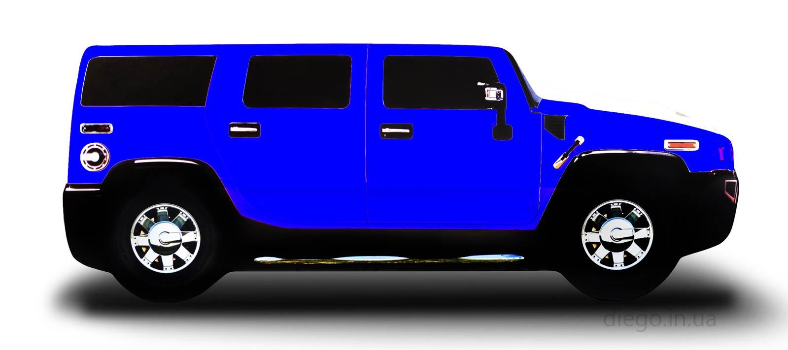 Джип синего цвета