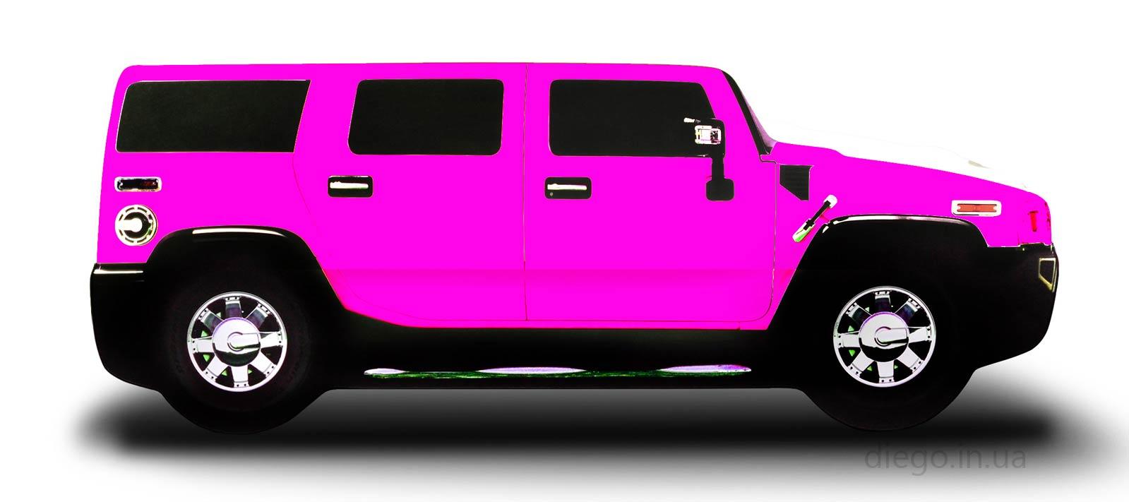 Розовая кровать машина Джип