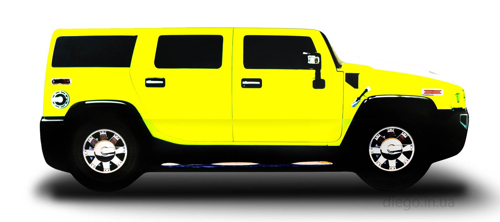 Джип желтого цвета