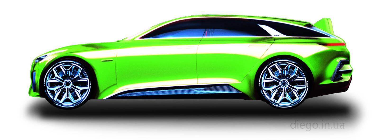 Кровать Universal GT зеленого цвета