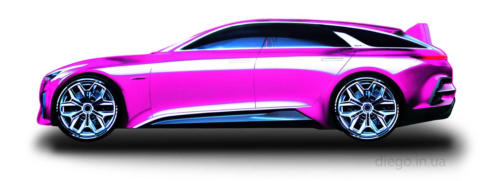 Кровать Universal GT розового цвета