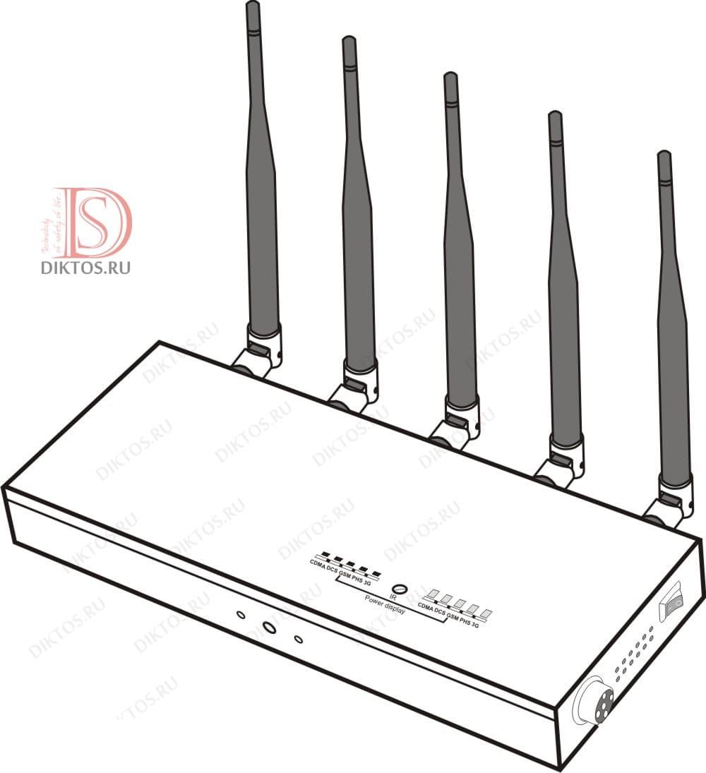 Подавитель P23 блокирует GSM, 3G и Wi-FI