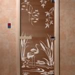 """Дверь для саун """"Камышовый рай"""" бронза"""
