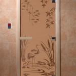 "Дверь для саун ""Камышовый рай"" бронза матовая"