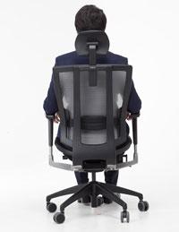 Дышащая спинка в креслах Duoflex Mesh