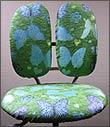 голубой шенилловый чехол для детских кресел