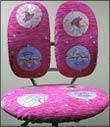 розовый шенилловый чехол для детских кресел