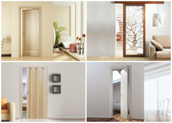 Разновидности механизмов открывания межкомнатных дверей