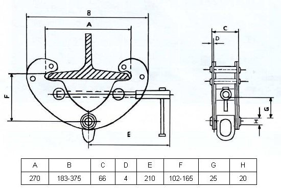 Захват монтажный GART Lifting 1 Т