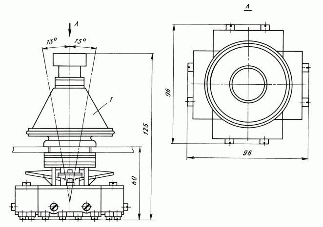 Общий вид и габаритные размеры крестовых переключателей ПК12-21Д801 и ПК12-21Д802