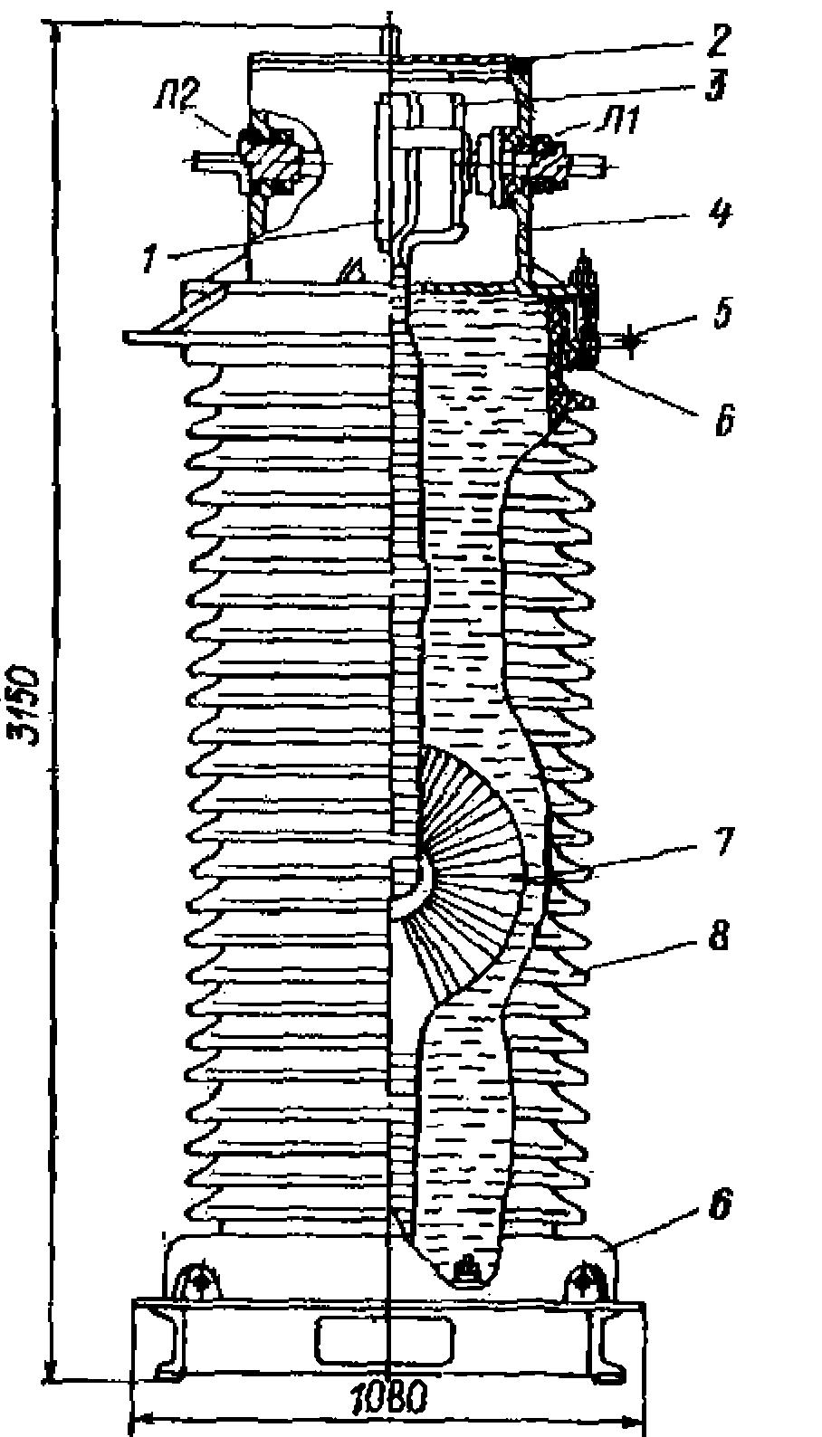 Конструкция трансформатора ТФЗМ-220 Б-IV (ТФЗМ-245 II-IV)