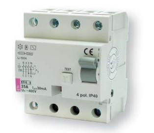 4-полюсные EFI6-4 тип AC (6kA) ETI