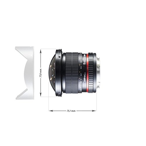 Характеристики WALIMEX, Pro 8mm f/3.5 Fish eye II