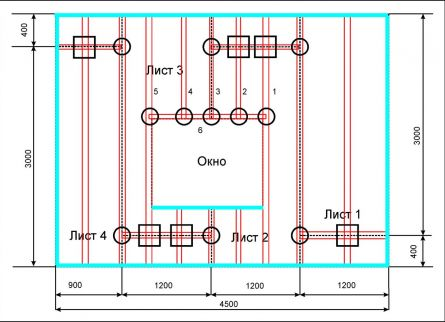 Схема каркаса для гипсокартона фото