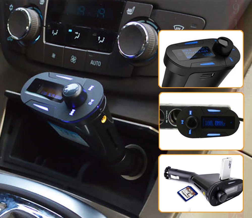 Wireless FM Transmitter modulator car kit mp3 player