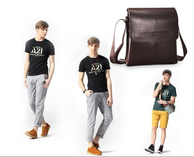 2015 Fashion  famous brand Men Shoulder bags,Men Handbags,Top PU Leather Men Bag, Men Messenger Bag,Briefcases,Crossbody Bags12