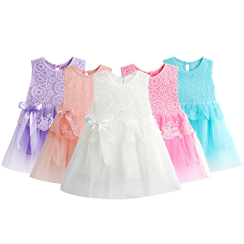 Hot New Infant Baby Girl Tutu Dress vestidos Kids Cute Lace Flower Summer Party Princess Dresses baby girl Christmas Clothes Z3