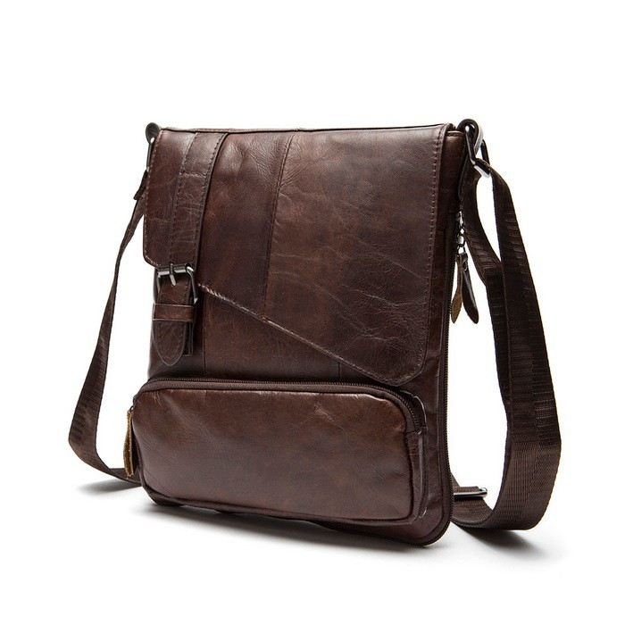 100% Guarantee the first layer of cow leather men messenger bag small single shoulder bag genuine leather men bag crossbody Hot (3)