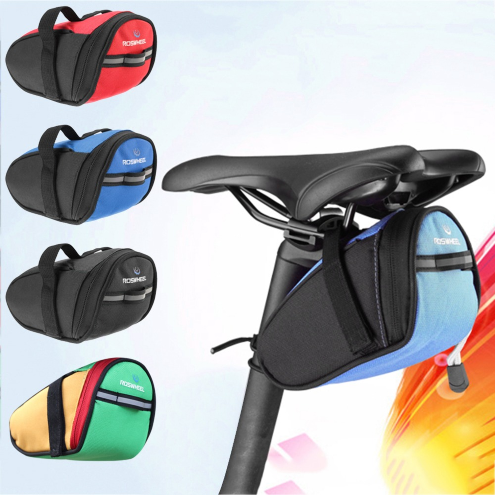 2016 new Outdoor Bike Bicycle Cycling Saddle Bag Tail Rear Pouch Seat Storage NEW