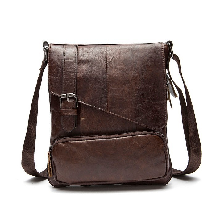 100% Guarantee the first layer of cow leather men messenger bag small single shoulder bag genuine leather men bag crossbody Hot (1)