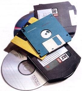 Различные виды дискет и накопителей