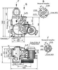 Габаритная характеристика насосов АВЗ-90