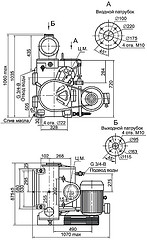 Габаритная характеристика насосов АВЗ-125Д
