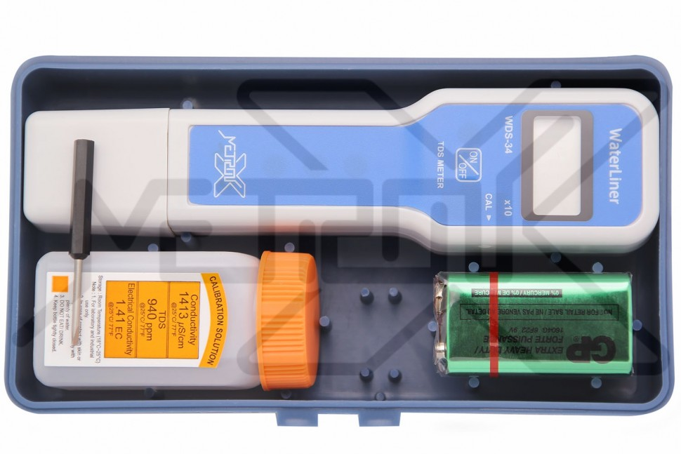 Солемер с выдвижным электродом WaterLiner WDS-34 WaterLiner WDS-34 Метроникс Солемер фото, схема, параметры, таблица, паспорт, инструкция, характеристики, завод изготовитель, производитель