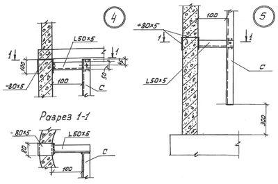 Крепление лестницы-стремянки в колодце