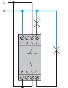Схема подключения таймера Хагер EG203