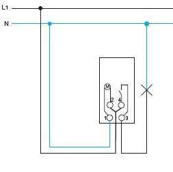 Схема подключения таймера Хагер EH010