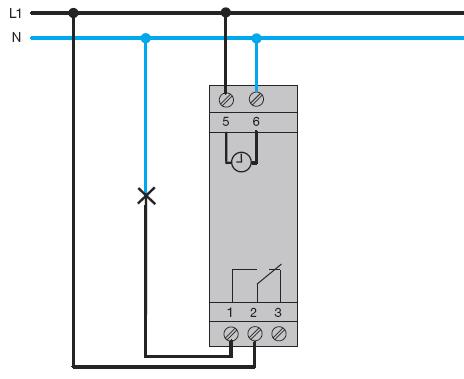 Схема подключения таймера Хагер EG010
